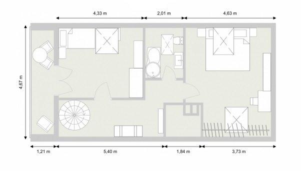 Grundriss - Ebene 2 - 2D
