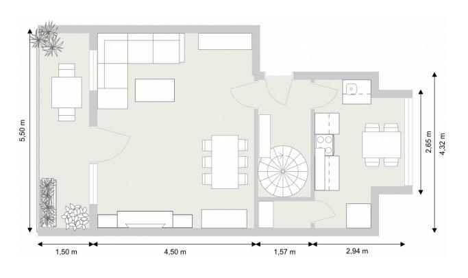 Grundriss - Ebene 1 - 2D